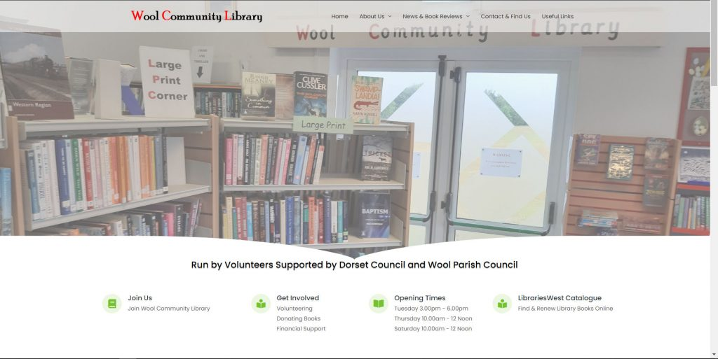 An image of part of the wool community library